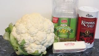 ingredients for roasted cauliflower