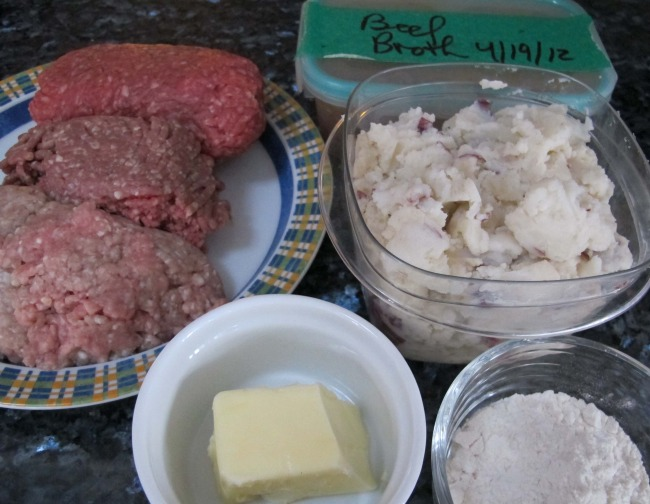 meat and potatoes for shepherd's pie