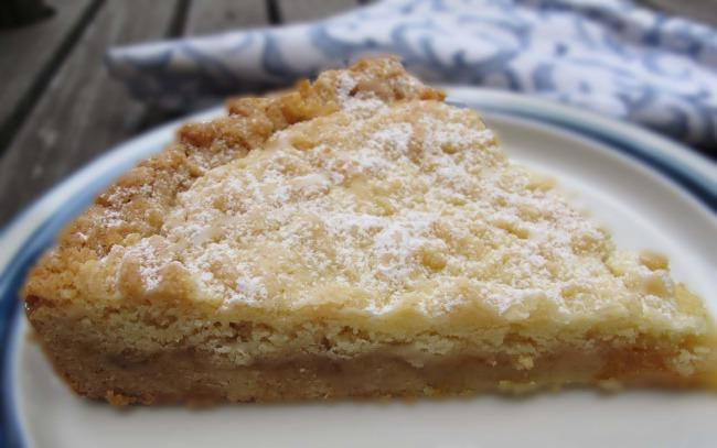 piece of shortbread tart
