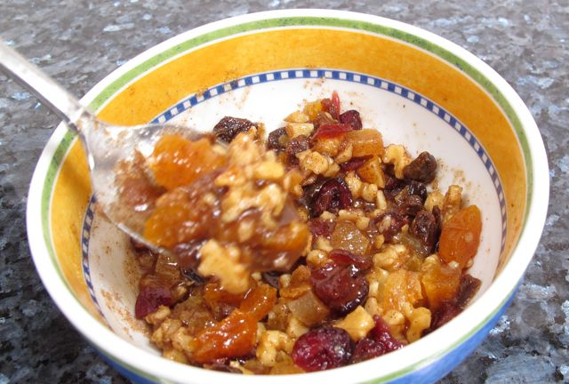 baked apple - mixing fruit nuts cinnamon  sugar.jpg