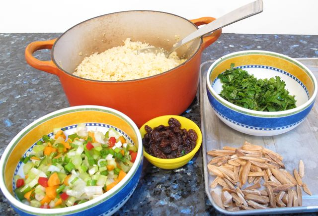 cous cous - ingredients ready to combine.jpg