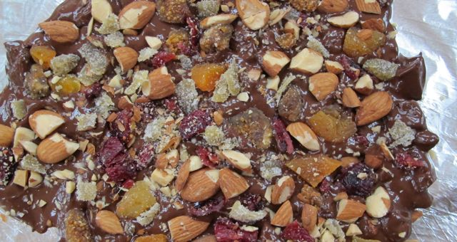 chocolate bark - on foil with added fruit  nuts.jpg