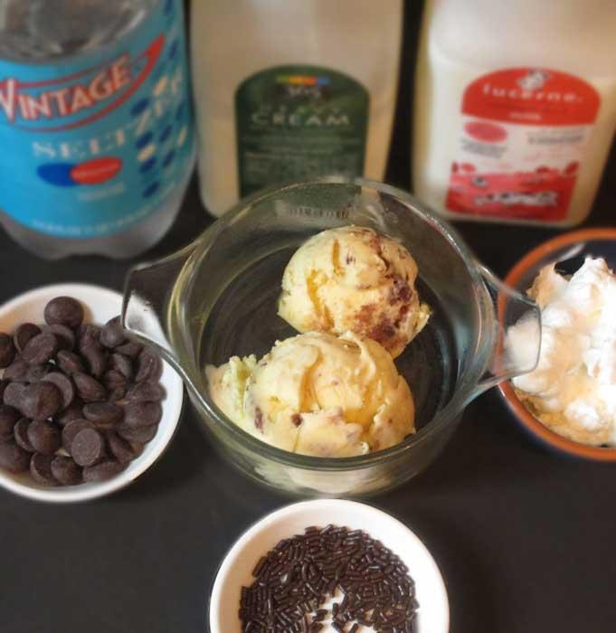 ice cream soda incgredients