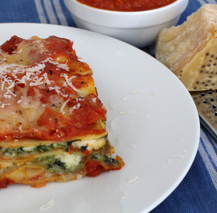 cheese lasagna with butternut squash and spinach | Mother Would Know