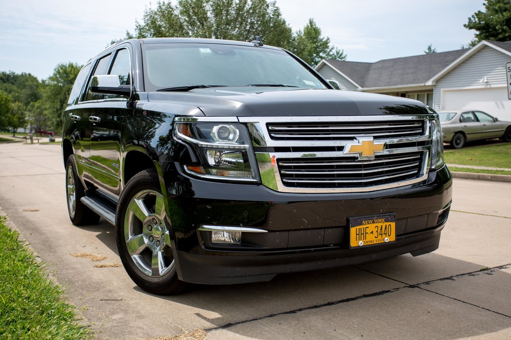 "My rental ""car"" – a 2017 Chevy Tahoe."