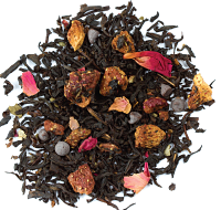 A deliciously romantic blend of black tea, chocolate, strawberries and rose petals.
