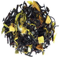A pleasing and healthful black tea blend of lime leaves, lime juice, lime pieces, and sweet candied pineapple.