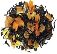 An organic black tea with a blend of dried peaches, cinnamon, ginger, organic honeybush and Cloves.