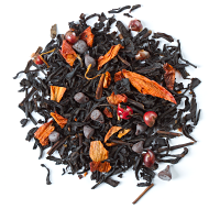 A spicy black tea with dark chocolate, peppercorns and chilis.