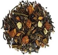 A Warm decadent blend of green + black tea, chocolate flakes, ginger, cinnamon caramel, apples and yogurt.
