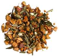 A creamy sweet blend of green tea, lime, mint leaves and pear.