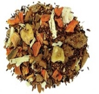 A delicious blend of organic rooibos, organic honeybush, cinnamon, carrots, cloves, walnuts, ginger, coconut, maple brittle