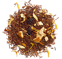 A citrus blend of rooibos, currants, orange peels and orange blossoms.