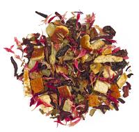 This is a refreshing blend of rooibos, hibiscus,   mango , lemon peel, lemon myrtle, lemongrass, stevia and cornflower petals.
