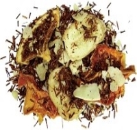 Truly an amazing blend of rooibos with large banana and coconut chips, rooibos, mango flakes, pineapple and papaya flakes and orange slices.