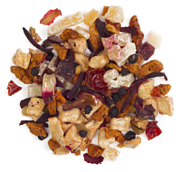 An exotic mix of apple, hibiscus, guava and mango.