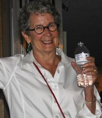 Fine artist, Phyllis Sharpe, at The Creative Center.