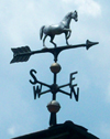 Photo of weathervane with horse