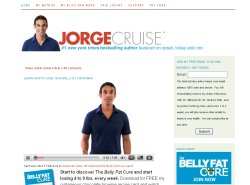 Screen capture of Jorge Cruise's home page