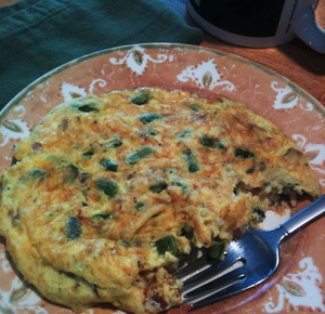 Photo of my omletatta, a combination between an omelette and fritatta