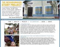 The Neighborhood Story Project website screenshot