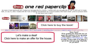 one red paper clip