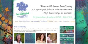 Click to visit the Greensboro School of Creativity website