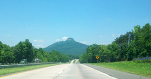 Photo of Pilot Mountain from I 85