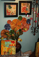 A bright, colorful display at Total Bliss, Summerfield, NC