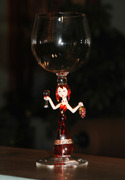 Wine glass with dancing lady stem