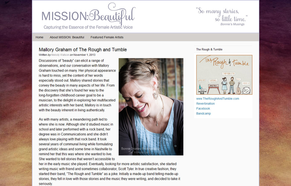 Click to read my guest blog post on Mission Beautiful and see the video about this talk.
