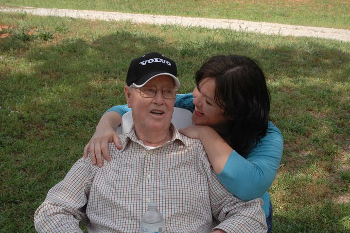 Melody Watson and Granddaddy, Everett Watson, in Greenville, SC, May of 2011.