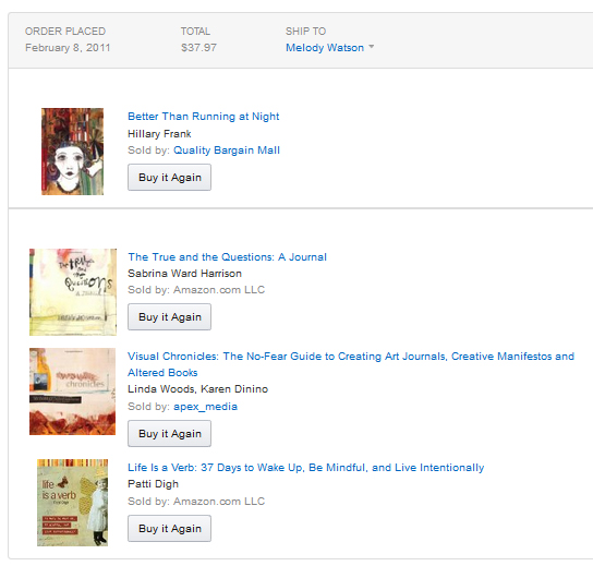 Creative books I bought through Amazon.com