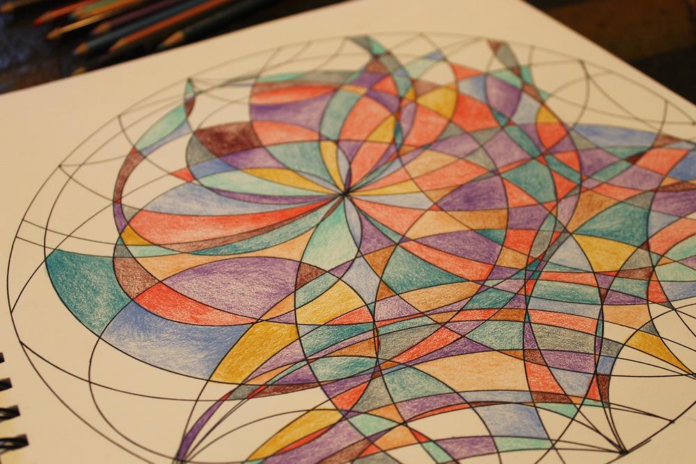 Geometric Mandala In Process