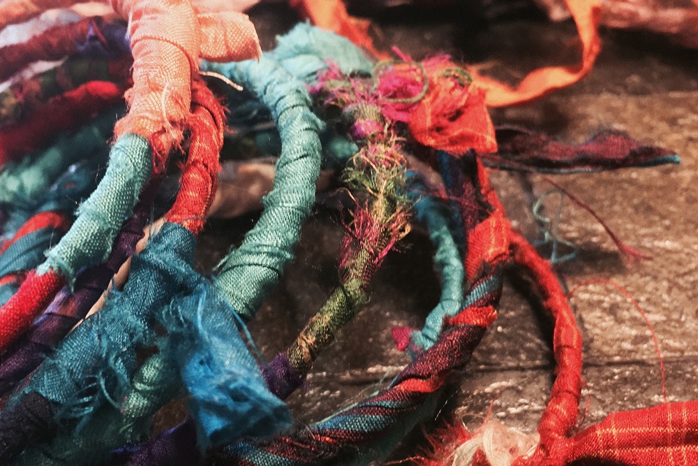 In Process: Silk-Wrapped Bangles
