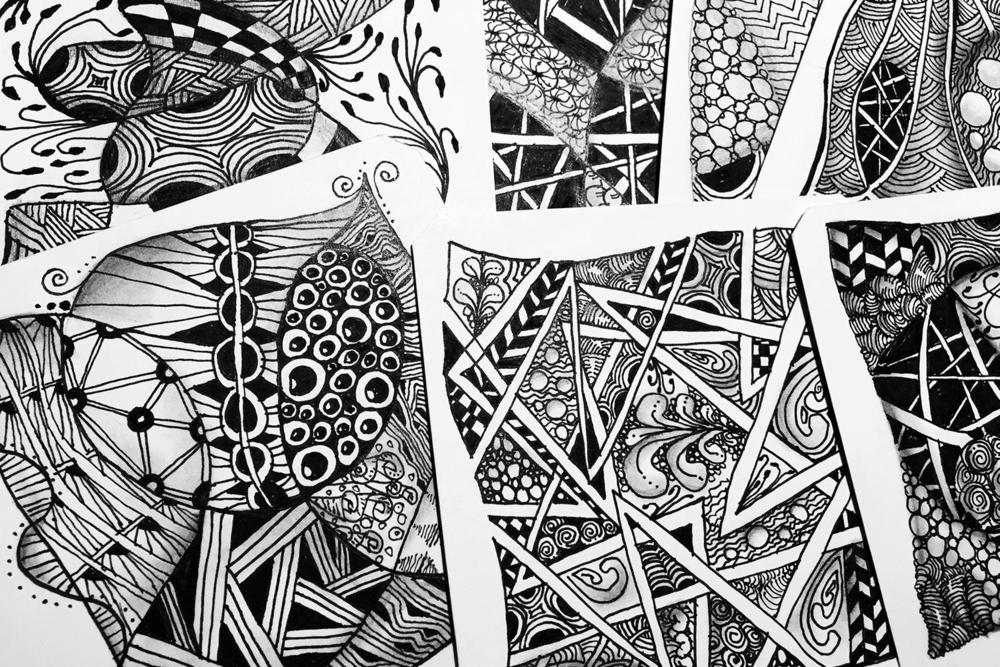 I fell in love with Zentangle last summer. It turned out to be a little more addictive than many of the creative avenues I've turned down. Here's a blog post to tell you a bit more.