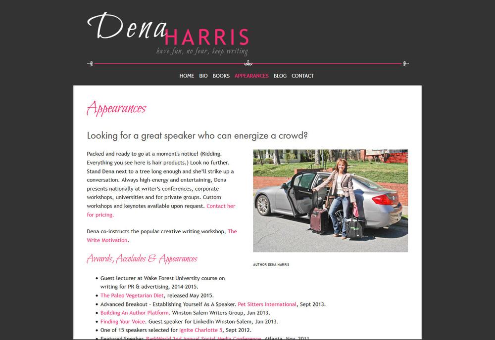 north-carolina-writer-author-dena-harris-squarespace-website_0007_FireShot Screen Capture #325 - 'Appearances — Dena Har.jpg