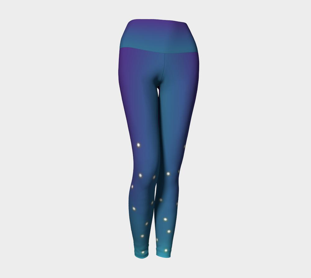"""Sparkle Plus"" Yoga Leggings designed by Melody Watson"