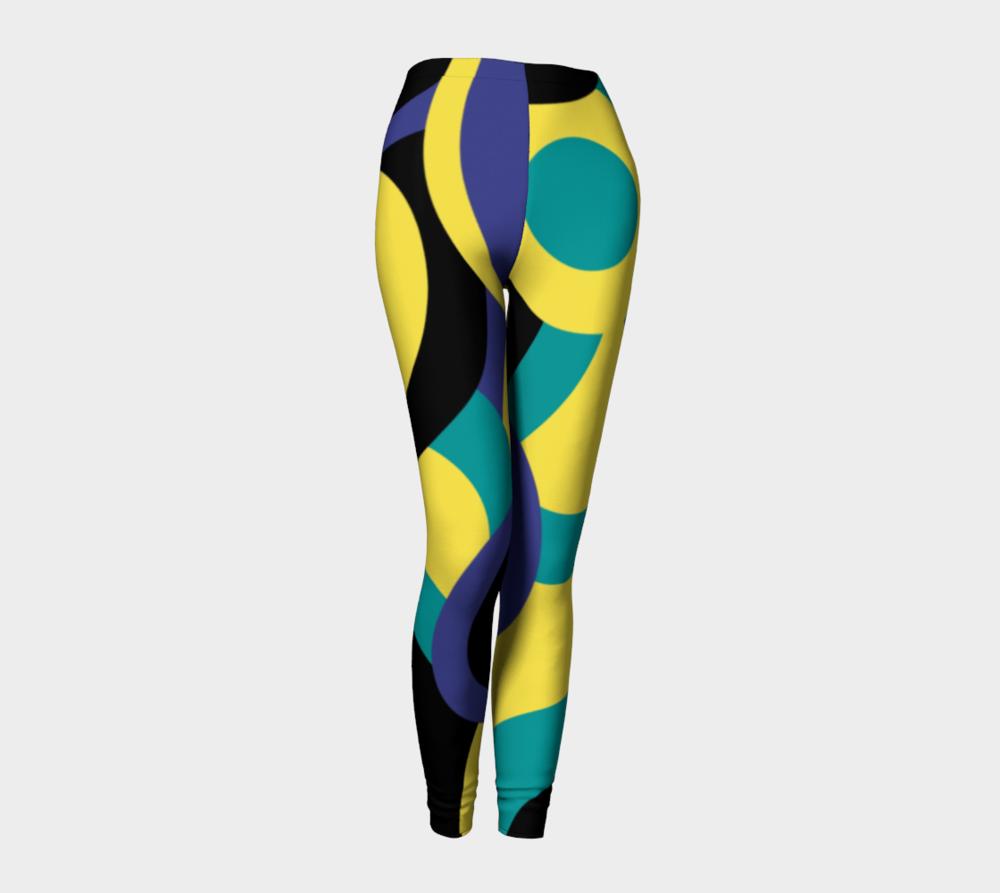 vib-royal-blue-veridian-green-golden-kiwi-yellow-black-circles-modern-abstract-leggings-347764-front-pose2.png