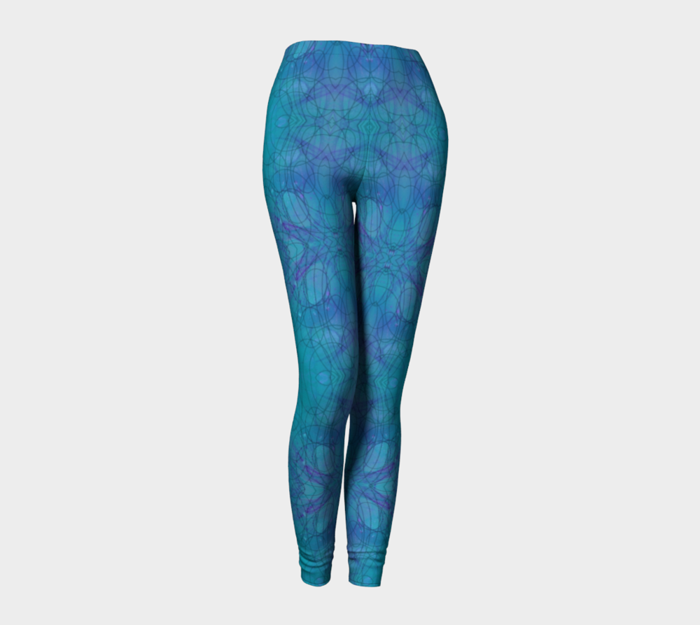 "Standard Leggings, Version 1 in ""Happenstance"" Design"