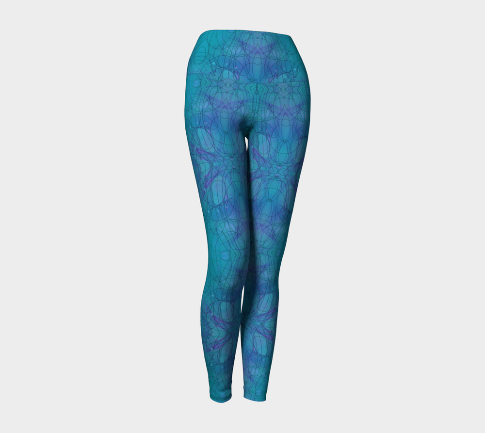 "Yoga Leggings, Version 1 in ""Happenstance"" Design"