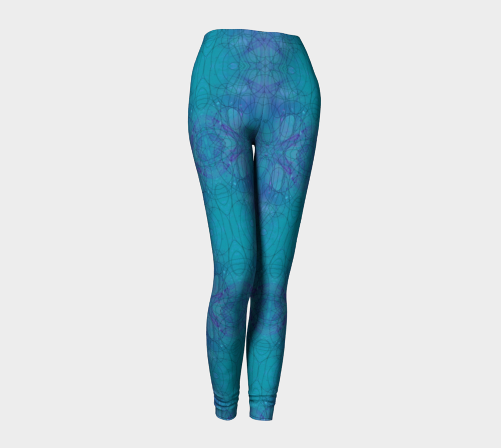 "Standard Leggings, Version 2 in ""Happenstance"" Design"