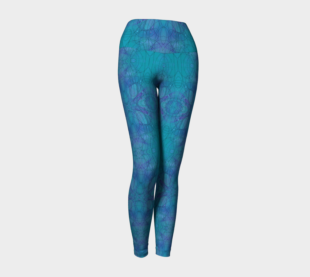 "Yoga Leggings, Version 2 in ""Happenstance"" Design"