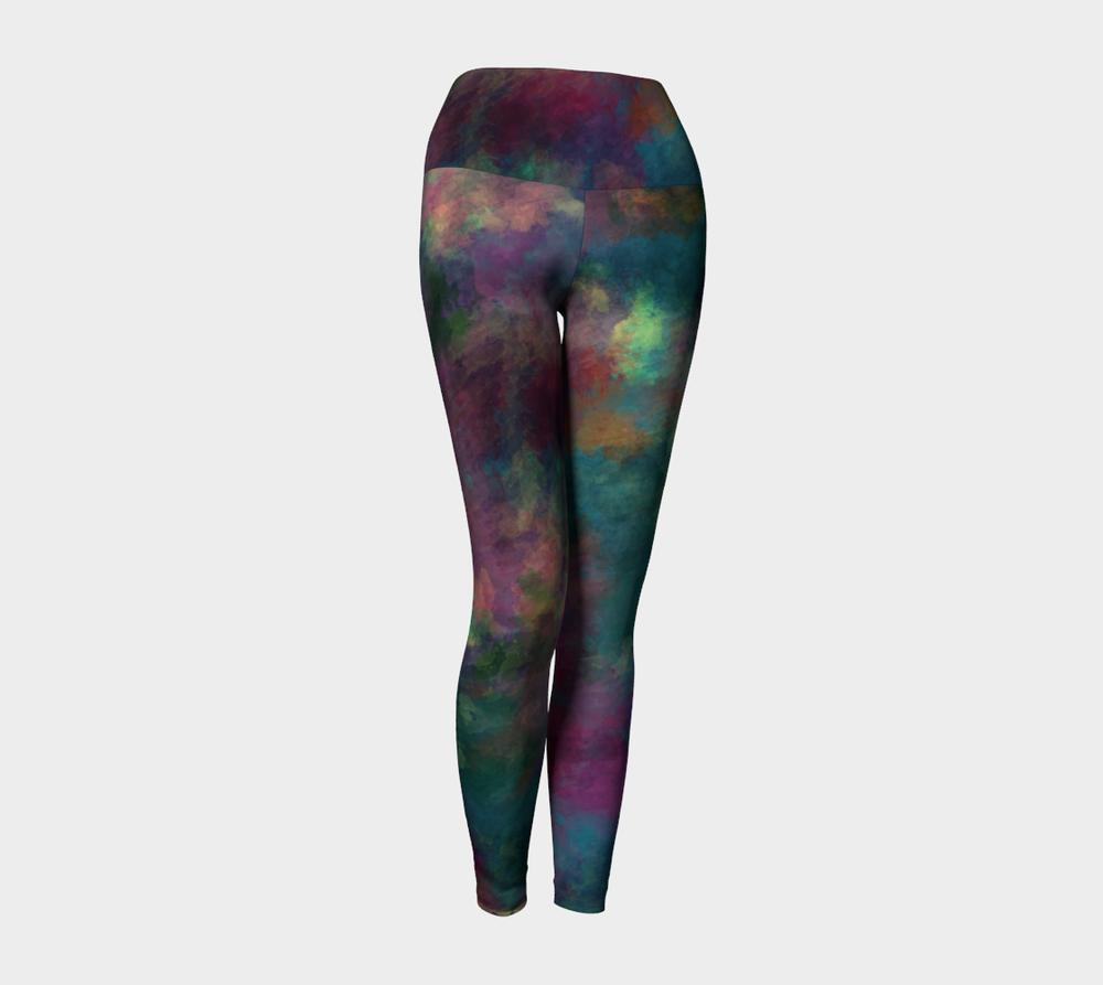 """Yoga Leggings in """"The Way She Looks at You"""" Digital Artwork Design"""