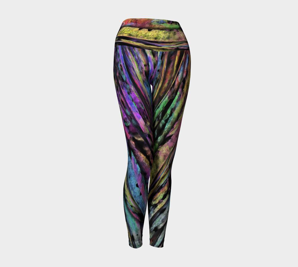 Unique, Bold, Colorful, Abstract Yoga Leggings