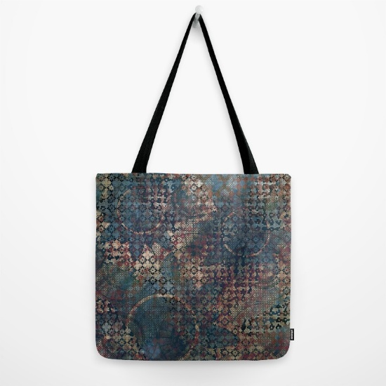 Tote bag printed with this grungy, artsy design, from Society6