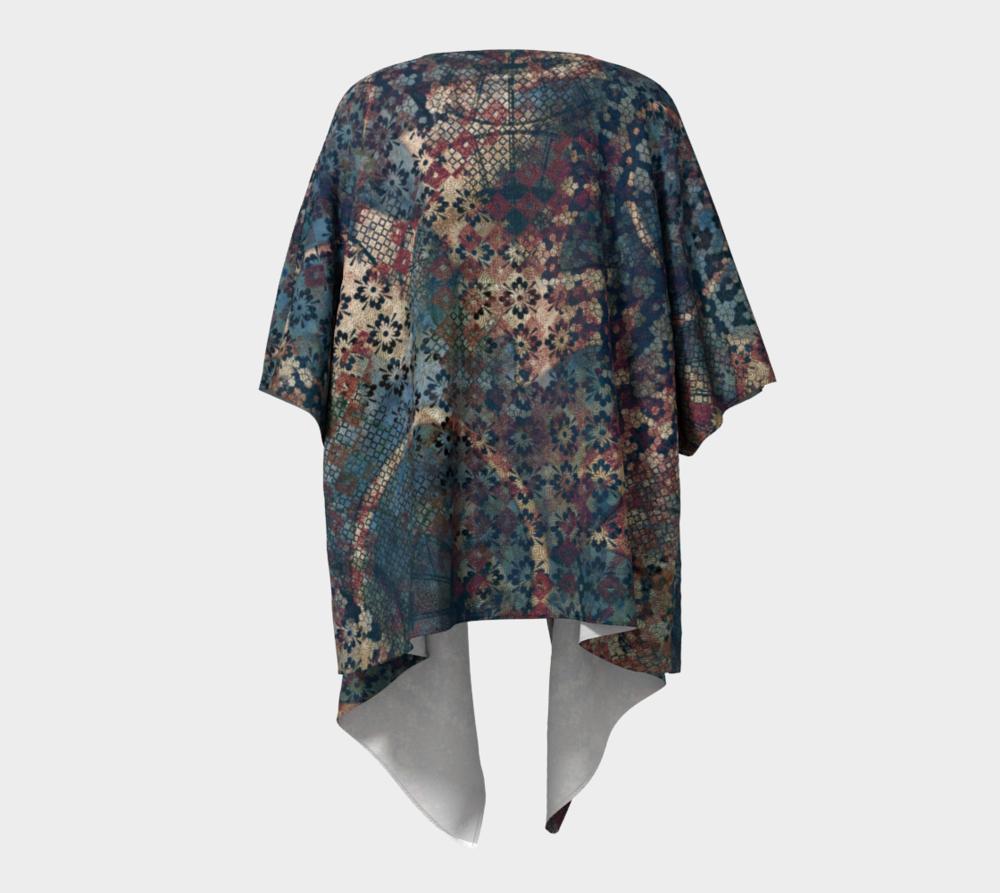 Draped Kimono Wrap with This Artsy Design