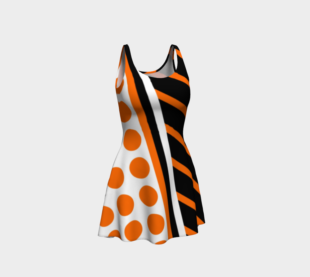 wntot-orange-black-white-stripes-polka-dot-halloween-design-preview-flare-dress-344545-front.png