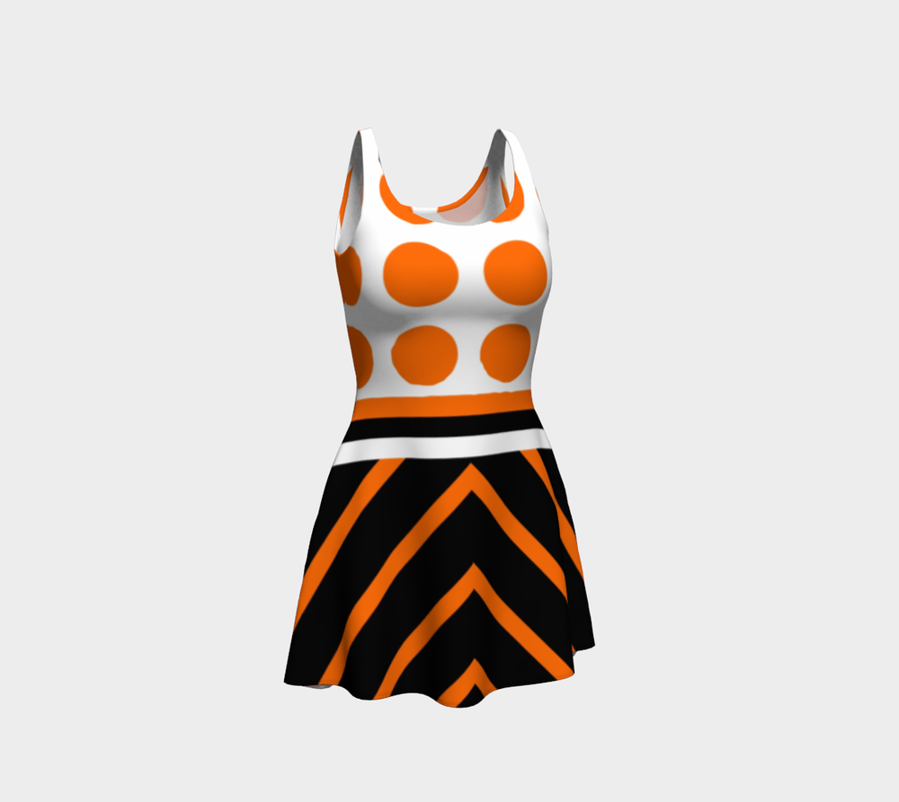 wntot-orange-black-white-stripes-polka-dot-halloween-design-preview-flare-dress-344554-front.png