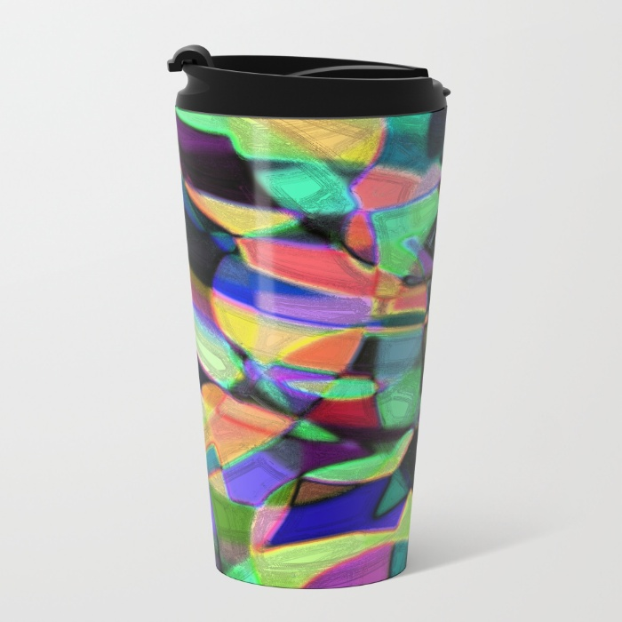 Travel coffee mug with my artwork on it!